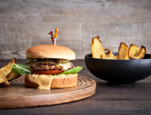Woodview Wagyu Cheese Burger With Crispy Potato Skins